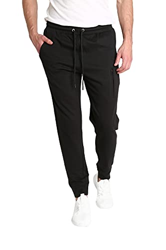 LOUNGEHERO Pantalones de Chándal de Forro Polar para Hombre Pantalones de Chándal de Algodón...