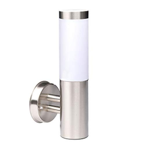 Trango 8000L IP44 Außenleuchte, Wandleuchte aus Edelstahl & Kunststoff mit E27 Fassung - Passend für alle LED Leuchtmittel Außenbeleuchtung, Außenwandleuchte, Außenlampe, Gartenleuchte