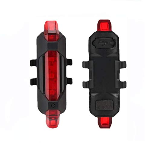 luz LED Strip Flashlight Bar Lamp para Xiaomi Mijia M365 Scooter eléctrico Night Cycling Safety Decoration Light Scooter Parts Negro (Rojo)