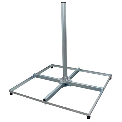 PremiumX Profi Sat Balkonständer 4X 50x50cm Stahl 1m Mast 60mm Ständer Terassenständer für Satellitenschüssel