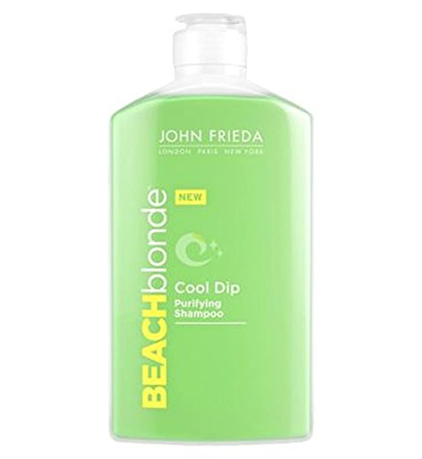 くぼみレースデュアルジョン?フリーダビーチブロンドのクールなディップ浄化シャンプー250ミリリットル (John Frieda) (x2) - John Frieda Beach Blonde Cool Dip Purifying Shampoo 250ml (Pack of 2) [並行輸入品]