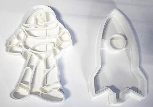 TO INFINITY AND BEYOND BUZZ LIGHTYEAR ROCKET SPACESHIP TOY STORY PIXAR SET OF 2 SPECIAL OCCASION COOKIE CUTTERS BAKING TOOL 3D PRINTED MADE IN USA PR1092