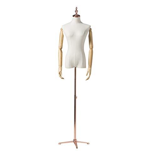 CAIJUN Maniquí De Mujer, Modelo De Altura Ajustable con Brazo De Madera For Monitor Disfraces Forma De Vestido De Ropa, Trípode (Color : C, Size : Small Size)