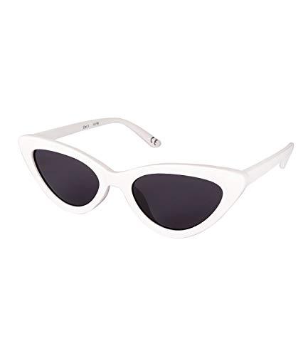 SIX KIDS Sonnenbrille, Cat-Eye, UV-Filter, Sommer, schwarze Gläser, weißes Gestell (324-540)