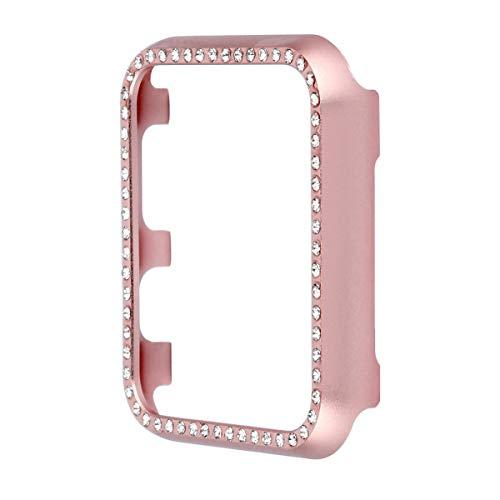 HEMOBLLO 40MM Smartwatch Frame Aleación de Aluminio Proteger Shell para Apple Watch 4 Protector (Oro Rosa)