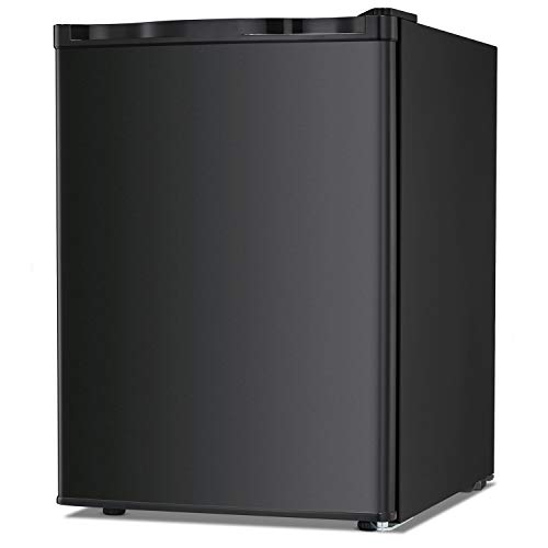 Best Prices! Bossin Energy Star 2.1 Cu.Ft Compact Mini Freezer Standing Upright Freezer Food Storage Machine with Adjustable Thermostat for Basement/Home/Apartment/Office, Single Door Mini Fridge(Black)