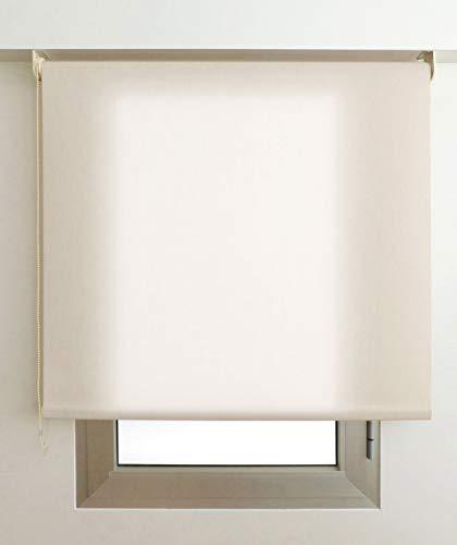 EB ESTORES BARATOS Estor Luminoso Elite (Desde 40 hasta 300cm de Ancho) Permite Paso de Mucha luz, no Permite Ver el Exterior/Interior. Color Arena. Medida 180cm x 160cm para Ventanas y Puertas