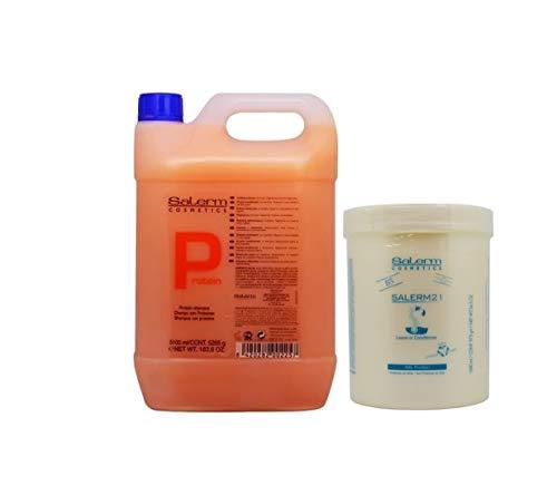 Salerm Proteina Champu 5100ml + Salerm21 Acondicionador Proteina de Seda 1000ml