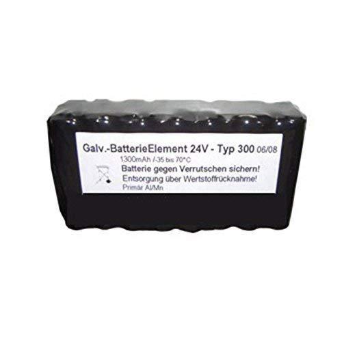Galvansiche Feinstrom Batterie | Element 24V Typ 300 | mit Anschlussstecker passend für SDL, Moser, Schilling, Glückshofer und Wohlmuth Geräte