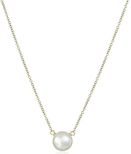 Dogeared Large Pearls of Beauty White Pearl Necklace, Sterling Silver