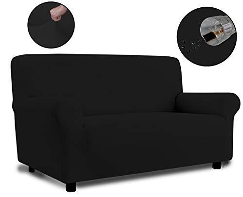 Banzaii Funda Sofa 3 Plazas Negro – Elastica Impermeable – Extensible de 150 a 200 cm - Made in Italy