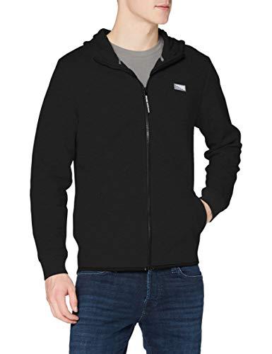Jack & Jones Jcoair Sweat Zip Hood Noos Cardigan Jersey, Negro, L para Hombre