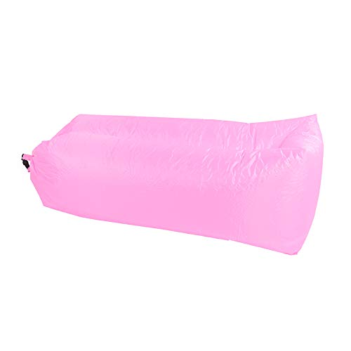 ZTOONE Inflatable Lounger Couch Air Lounger Lazy Sofa with Carry Bag,Hammock Inflatable Mattress Inflatable Bed Pool Float for Swim,Camping,Beach,Hiking,Park,Backyard, Pool, Picnics (Pink)