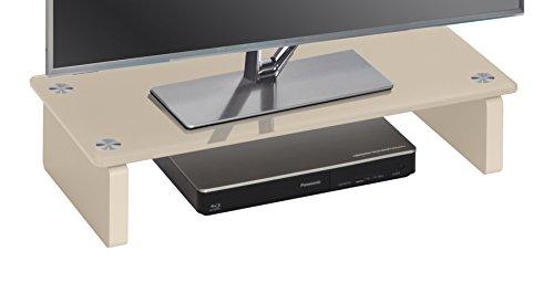 MAJA Möbel 1606 TV-Board, Abmessungen (BxHxT): 60 x 12,20 x 27,60 cm, Glas Sand, 60 x 27,60 x 12,20 cm