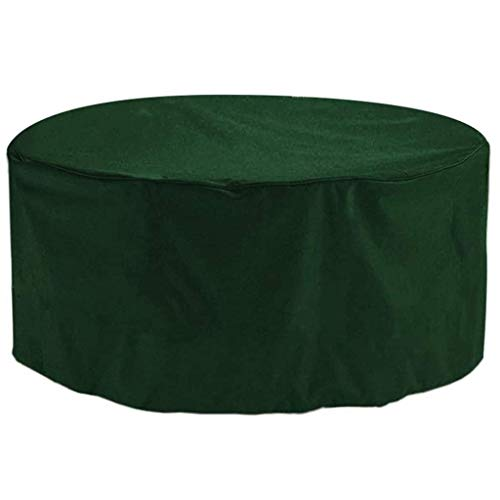 HYYK Patio Furniture Cover Round 214x70cm, Garden Furniture Covers, Patio Table Covers Garden Furniture Covers Outdoor Fire Pit Circular Tables and Chairs Winter Covers,Green