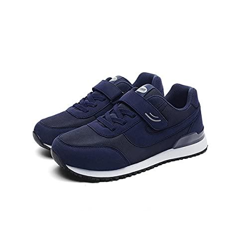 Aocase Calzado de Fitness al Aire Libre para Hombre Zapatillas Ligeras y Transpirables Calzado para Correr por Carretera Calzado Deportivo para Ancianos,Dark Blue,40EU