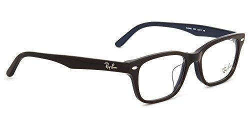 【レイバン国内正規品販売認定店】RX5345D 5076 53サイズ Ray-Ban (レイバン) メガネフレーム と ブルーライトカットレンズ(度なし、UVカットつき、超撥水、クリアタイプ) のセット