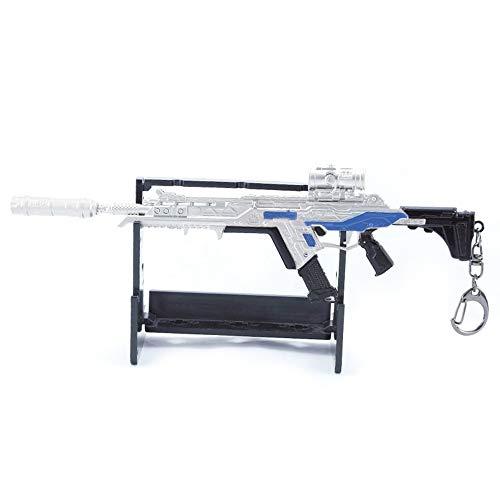QIDUDZ R-301 Karabiner Sturmmodell Gewehre Armee Sammler Militär Imitieren Spielzeug Desktop Dekoration um den Helden Zinklegierung Waffe Schlüsselanhänger Action Figur Arts Mini Geschenke für Jungen