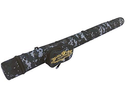 Gator Hartschalen-Schutzhülle für Billardqueue, 1 x 1 W, 1 x Tasche mit 1 W, Trageschlaufe, Verkaufspreis: MSRP $59 (Camo Blue)