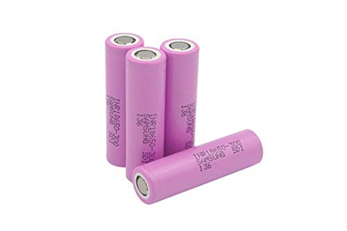 Authentic High Drain 30Q, 3000mAh 3.7V, Flat Top,18mmX65mm Size Rechargeable, for Flashlight Toy Tools etc(Pack of 4)