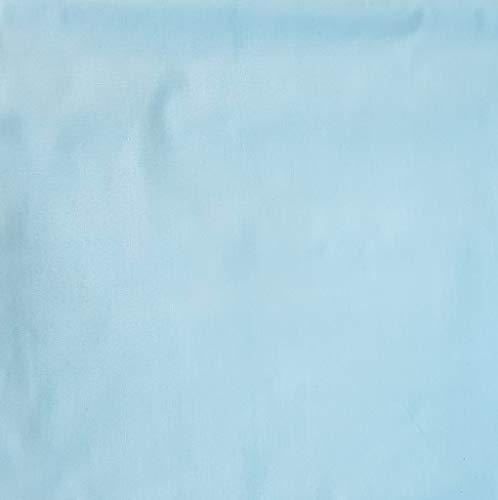 Pingianer 100{920b92d8f2edec0466996b157f50d192a18433deec4fd1e47765c92c5592c43a} Baumwolle Uni Einfarbig Baumwollstoff Kinderstoff Meterware Handwerken Nähen Stoff (Hellblau, 50x160cm (13,98/m))
