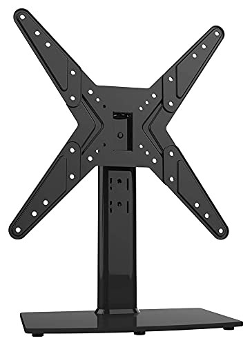 Giratorio Universal TELEVISOR Tapa de la Mesa de Soporte/Base TELEVISOR Soporte para televisores de 21 a 47 Pulgadas 4 Altura de Nivel Ajustable (Color : Black)