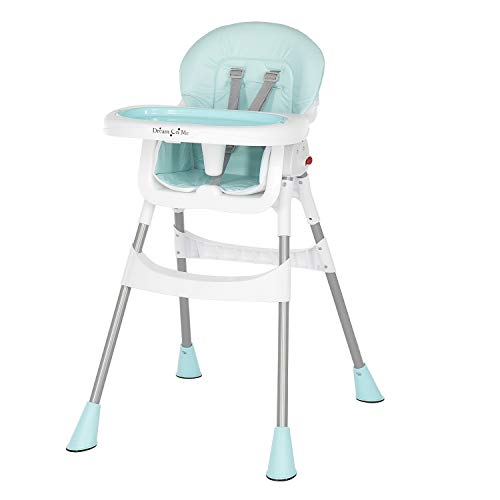 Dream On Me Portable 2-In-1 Tabletalk High Chair |Convertible |Compact High Chair |Light Weight Portable Highchair