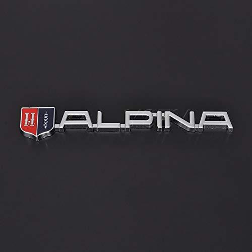 NXCY01 Haubenlogo Mode Auto Aufkleber Emblem Refit Abzeichen Metall Aufkleber für BMW Alpina M M3 M5 M6 X1 X3 X6 E46 E39 E60 E90 E36 Auto Styling Haubenlogo (Color Name : Silver)