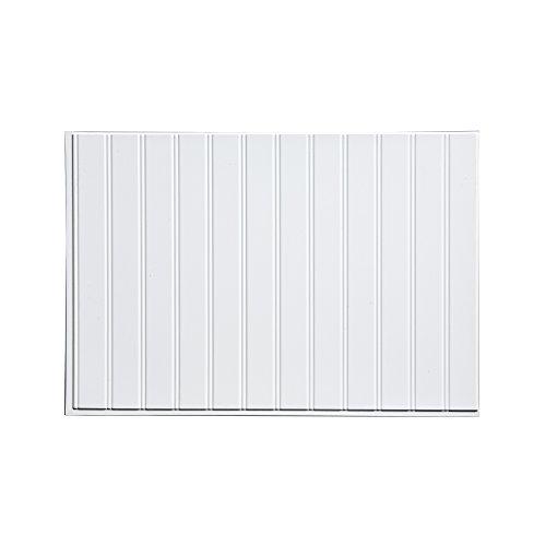 Fasade Easy Installation Bead Board Gloss White Decorative Vinyl...