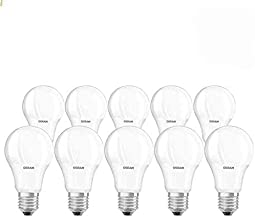 Osram LED Star Classic A | Frosted 9W, Screw Base E27, Warm White/2700k - 806 lm (Pack Of 10)