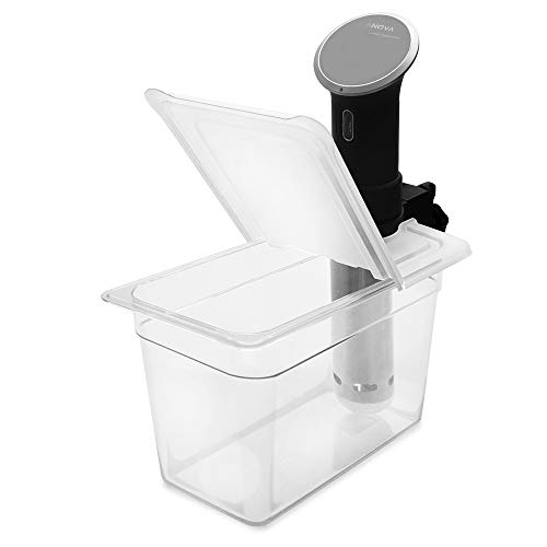 EVERIE Sous Vide Container 7 Quart with Collapsible Hinge Lid for Anova Bluetooth 800w or Wi-Fi 900w or AN500-US00 1000w, Not for Nano