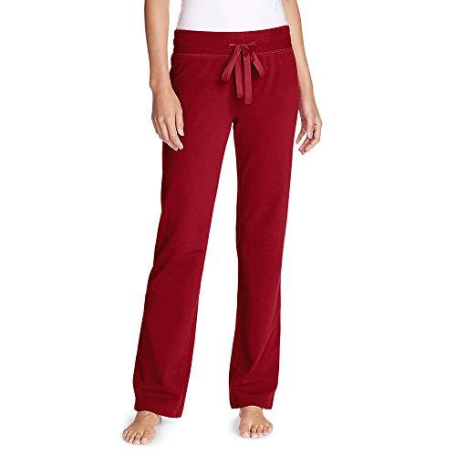 Eddie Bauer Women's Cabin Fleece Pants, Scarlet Regular XS