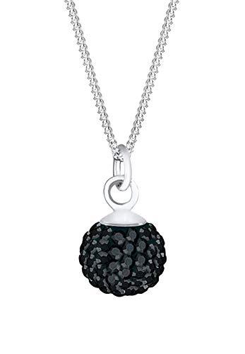 Elli Halskette Elli Damen Halskette Kugel Klassisch mit Swarovski Kristallen in 925 Sterling Silber