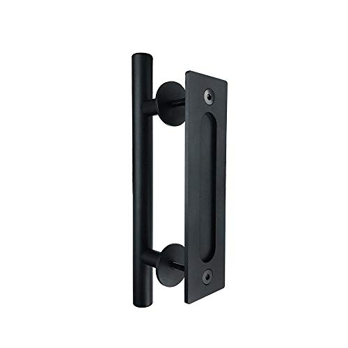 Ofgcfbvxd Door Handle Anti-rust Barn Door Handle Black Inlaid Double-sided Iron Modern Retro Door Handle for Home Decoration (Color : Multi-colored, Size : Free size)