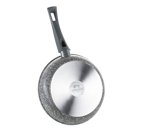 "Mopita Roccia Viva 32cm/12.6"" Non-Stick Forged Aluminum Fry Pan, Large, Grey"