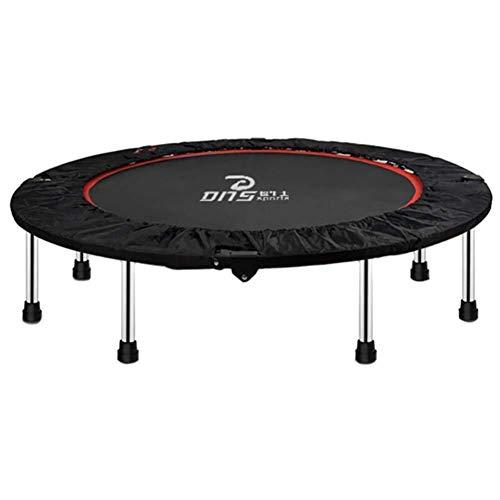 ZHAOJBC trampoline voor fitnessruimtes voor volwassenen met rebunder voor trampoline met gevoerde beschermhoes, zwart, draagkracht 300 kg