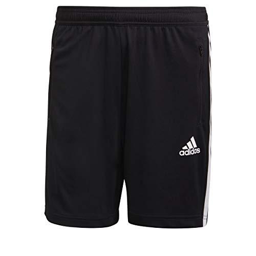 adidas M 3S SHO Sport Jacket, Black/White, L Men