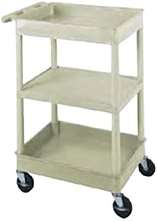 Plastic Utility Cart, 3 Shelves - 18
