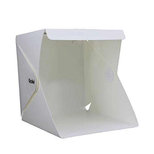 Rollei Light Bix Mini 24x24 cm -Luz Tienda Mini (24x 24cm, 2Listones lichtstarken LED Luz, 2reemplazable Negro/Blanco De Fondos), Color Blanco