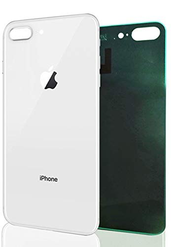 White//Silver Utechzh OEM Back Battery Door Glass Cover Replacement W//Pre-Installed Adhesive Compatible for iPhone X All Carriers