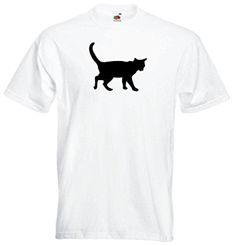 Black Dragon T-Shirt Homme–Chat - Blanc - M
