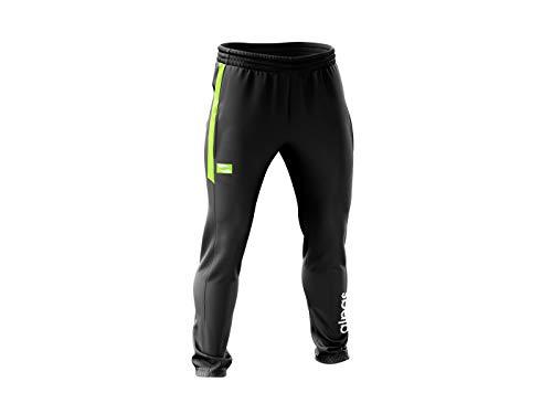 alpas Trainingshose/Jogginghose/Freizeithose Dynamic für Kinder/Jungen Gr. 116 bis 176 *NEU* Sporthose, Farbe: schwarz/neon gelb, Größe: 116
