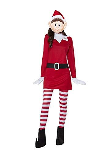 Smiffys 52243L officieel gelicenseerde Elfen Gedrag slecht dames Elf kostuum