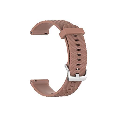 YNLRY 10 Colores 18 Mm Silicona Correa para Garmin Vivoactive 4S Smart Watch Strap Texture Sport Watch Band Band Reemplazo Pulsera TSFH (Color : 6)