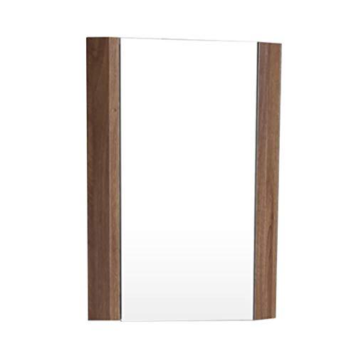 Wandgemonteerde opbergkast met spiegel, kast opslag thuis keuken badkamer driehoek locker muur opknoping locker badkamer driehoek spiegel opslag