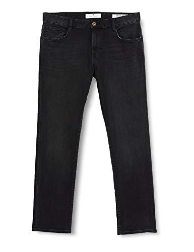 TOM TAILOR Herren Jeanshosen Josh Regular Slim Jeans, Black Stone Wash Denim, 29W / 30L