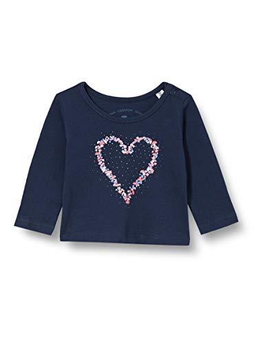 TOM TAILOR Baby-Mädchen Langarmshirt T-Shirt, Black iris Blue, 74