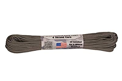 """275 Tactical Cord Paracord 3/32"""" X 100' USA Made 275lb Test, Graphite"""