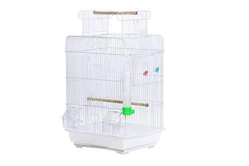 鳥籠 鳥かご とりかご バードゲージ バードケージ ルーフが開きます! 小型 カラー3色 簡単 組み立て式 インコ セキセイインコ コザクラインコ 文鳥 ブンチョウ ホワイト シナモン 十姉妹 カナリア レモンイエロー ローラーカナリア キンカチョウ 小鳥