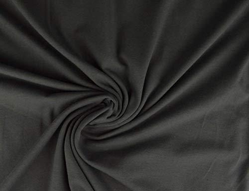 Jersey cotone, morbido jersey elasticizzato di ottima qualità, grigio scuro, 50 x 150 cm, in jersey di cotone, al metro, tessuto jersey di cotone, jersey.